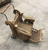 Antique Mini Wicker Wheelchair