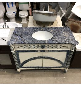 Vintage Blue Granite Top Vanity
