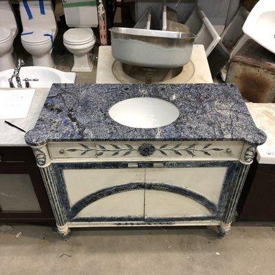 Vintage Blue Granite Top Vanity