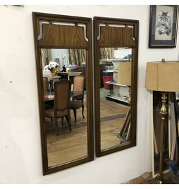 Vintage Dark Maple Mirrors