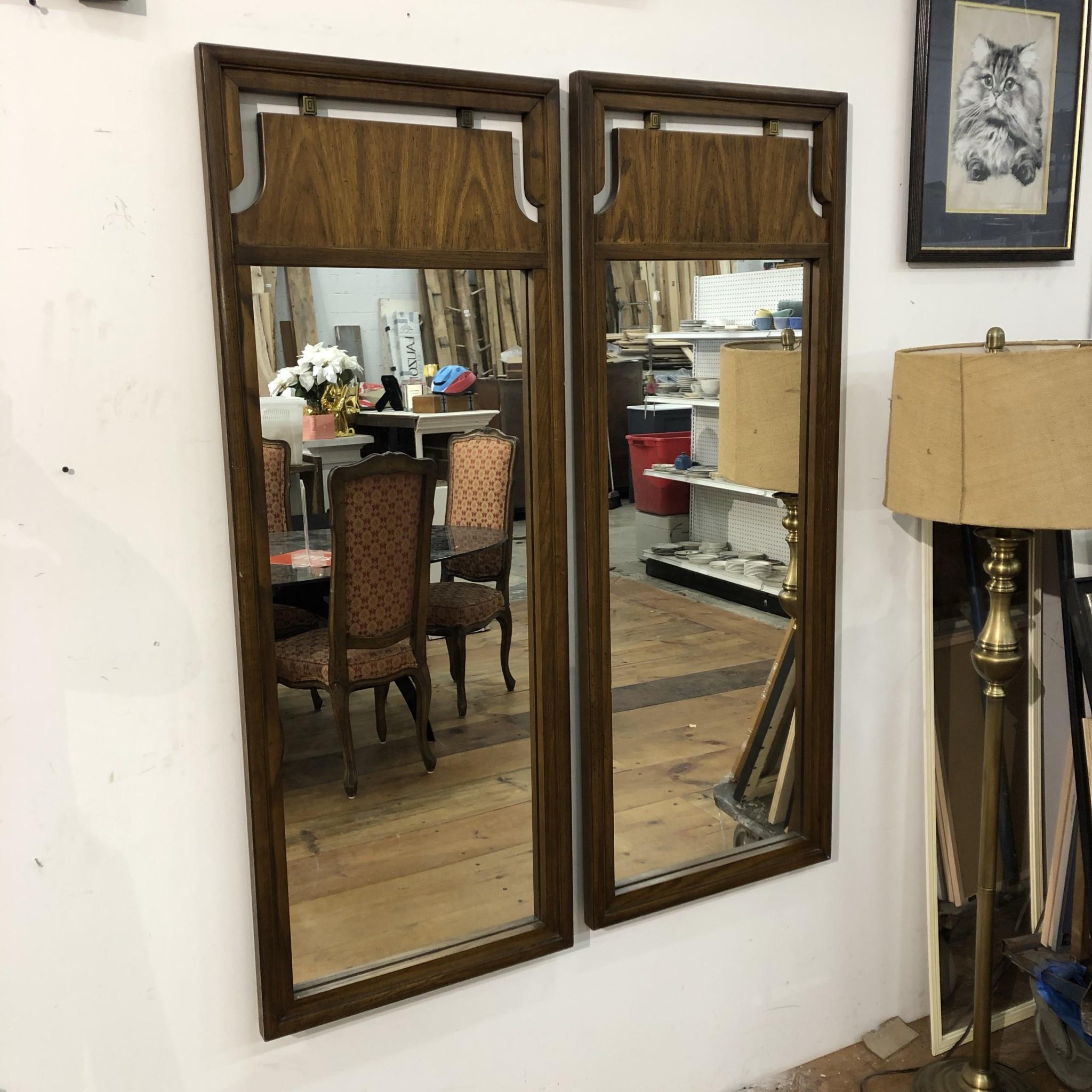 Vintage Dark Maple Mirrors