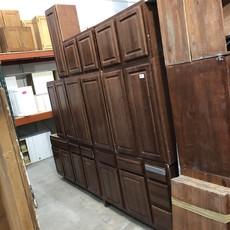 Dark Maple Cabinet Set
