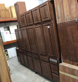 Dark Maple Cabinet Set