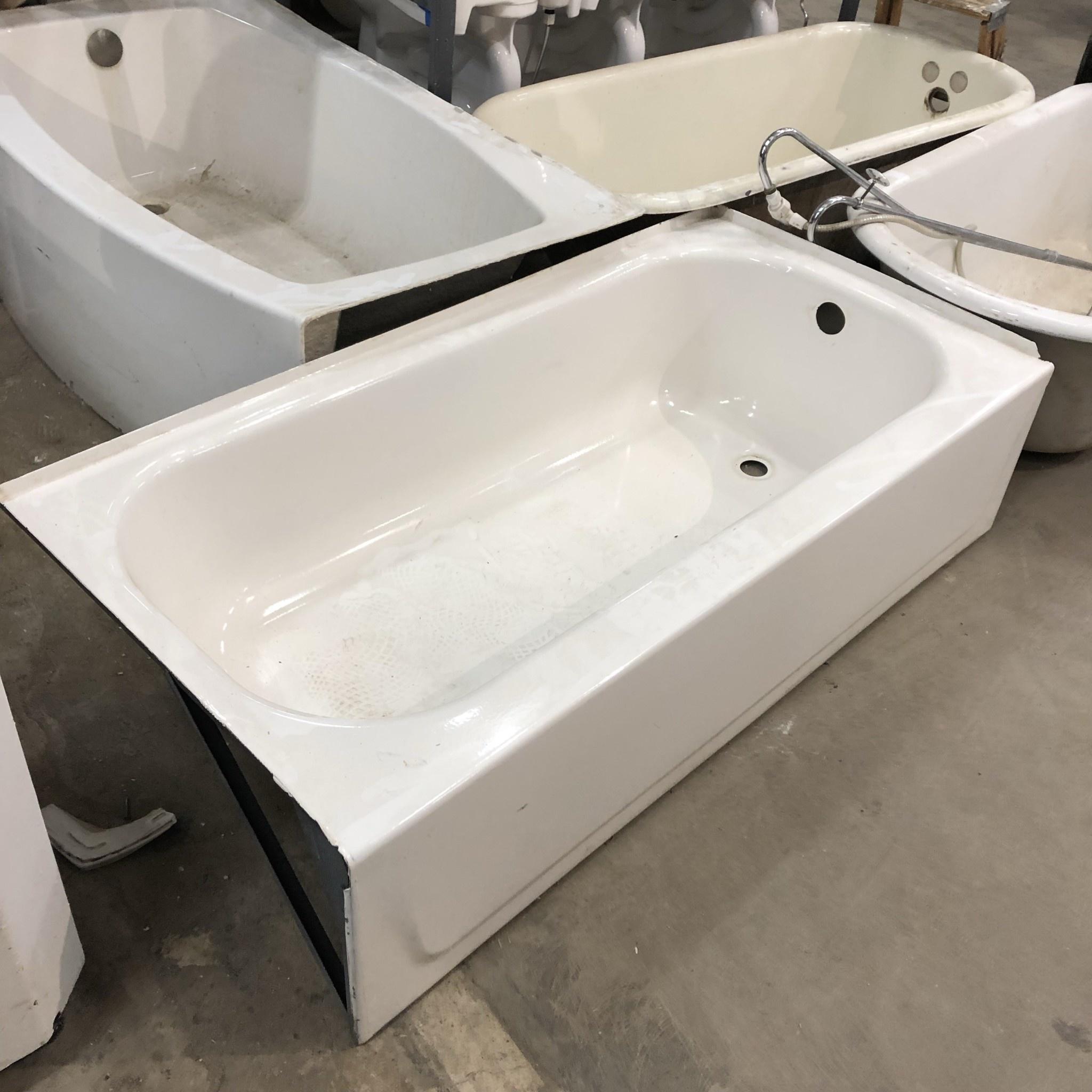 White Cast Iron Tub Reuse