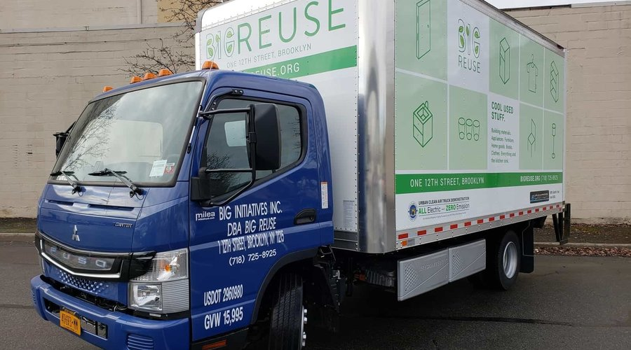 Big Reuse Receives All-Electric Delivery Truck