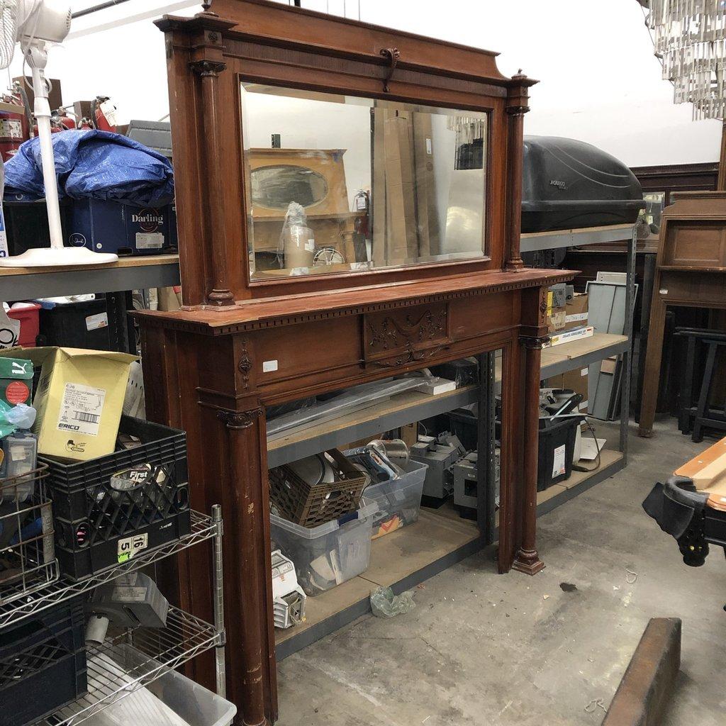 Widdicomb Red Mahogany Fireplace Mantel