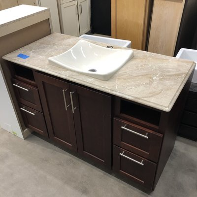Marble Top Vanity With Basin Sink