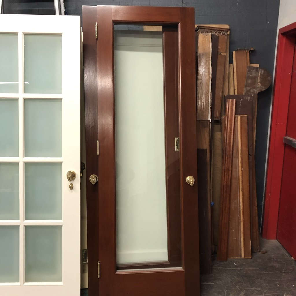 Cherry Set Doors W/ Brass Hardware