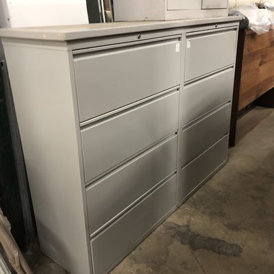 XL Gray Double File Cabinet