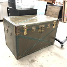 Vintage Army Green Chest