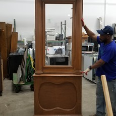 vintage display case frames