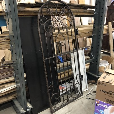 Vintage Iron Entrance Door