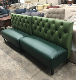 Green Restaurant Booth Seats