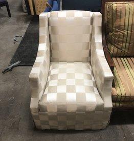 Designer Checkered Fabric Seat