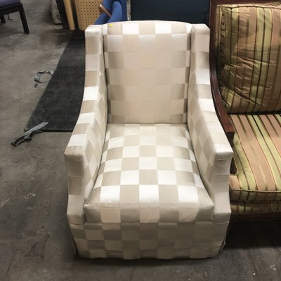 Designer Checkered Fabric Seat
