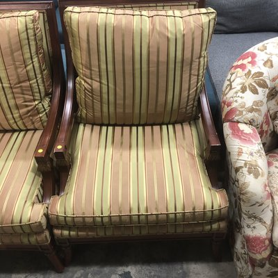 Vintage Upholstered Lounge Chairs