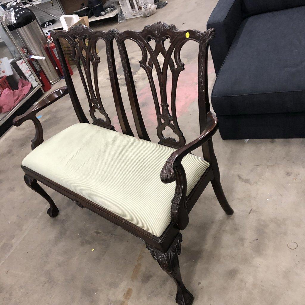 Vintage Mahoganny Clawfoot Love Seat