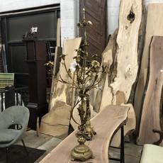 Vintage Floral Brass Lamp