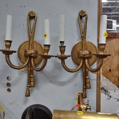 Brass Rope Wall Sconce