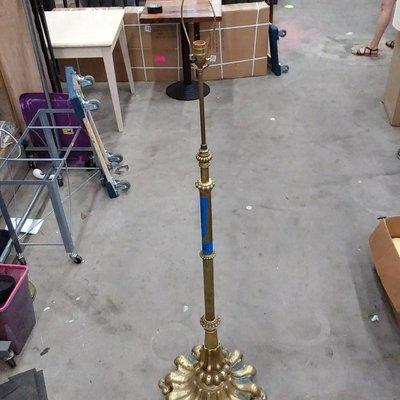 Brass Clawfoot Floor Lamp