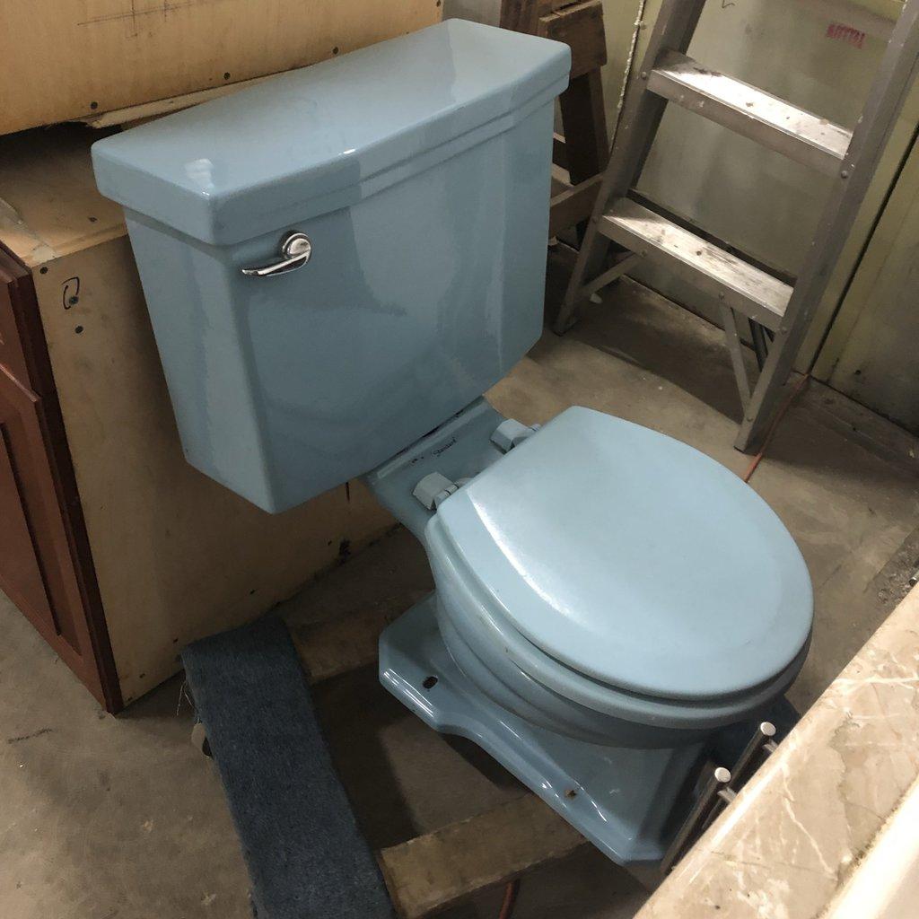 Baby Blue 1970's Standard Toilet