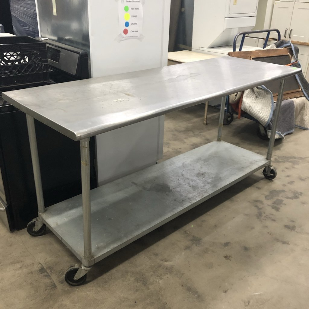Stainless Steel Portable Table Big Reuse