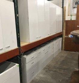 Gray Metal Kitchen Cabinet Set