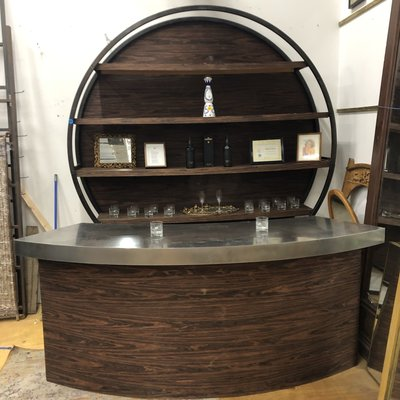 Custom Designed Oak Bar #BLU