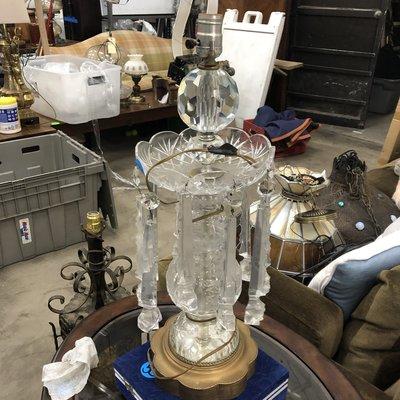 Vintage Crystal Lamp #BLU
