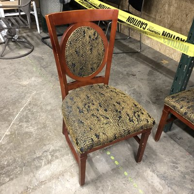 Cherry Restaurant Chairs With Reptile Print