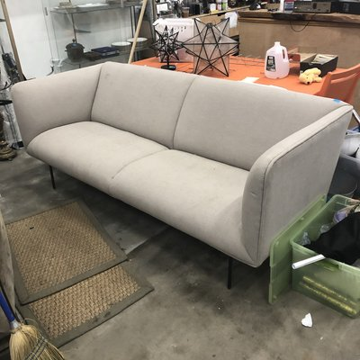 Grey Pin-Legged Sofa #YEL