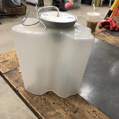 Milk Glass Clover Ceiling Fixtures