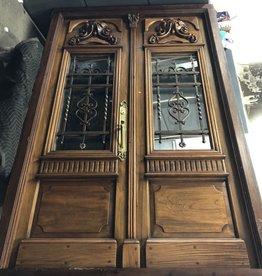 1970's Ornate Double Entry Door #ORA