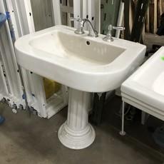 Vintage Porcelain Pedestal Sink