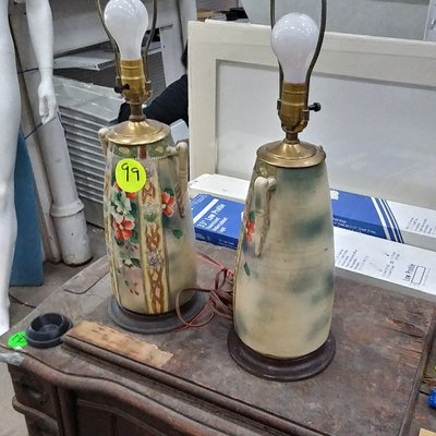 Vintage Ceramic Table Lamp Set
