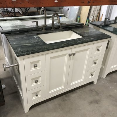 Money Green Marble Vanity