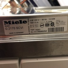 Miele Paneled Dishwasher