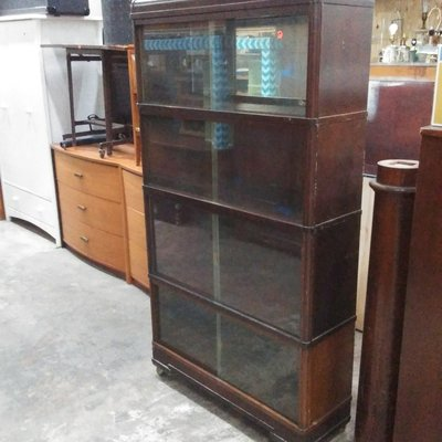 1950's Solid Wood Science Lab Bookcase