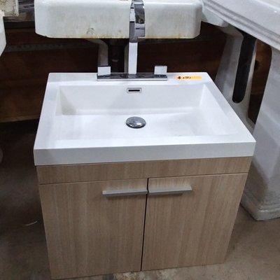 Wall Mount Vanity-w-Goose Neck Faucet