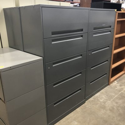 Gray 5 Section File Cabinet