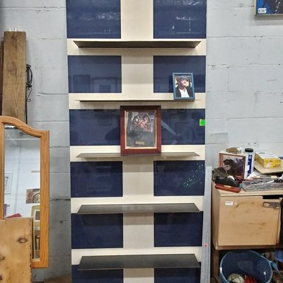 Custom Made Metal Wall Shelf