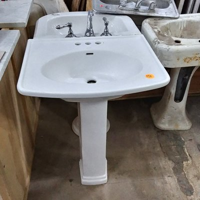 Decolav White Pedestal Sink