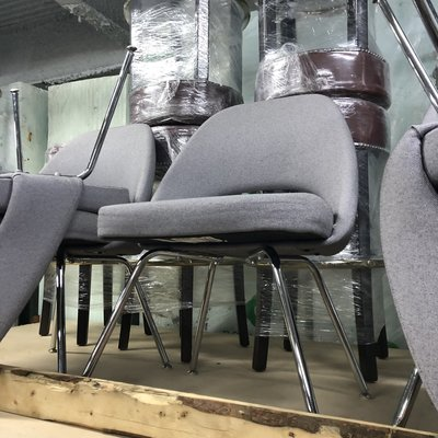 Gray Knoll Chairs