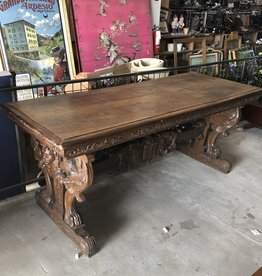 Antique Walnut Archivist Dining Table