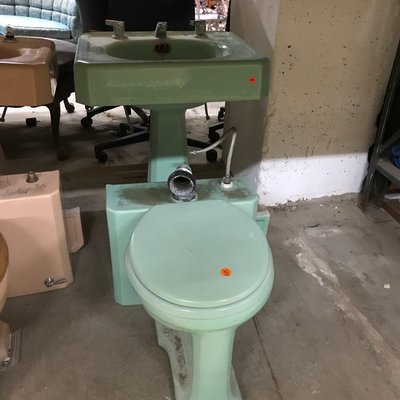 Vintage Teal Bathroom Set #ORA