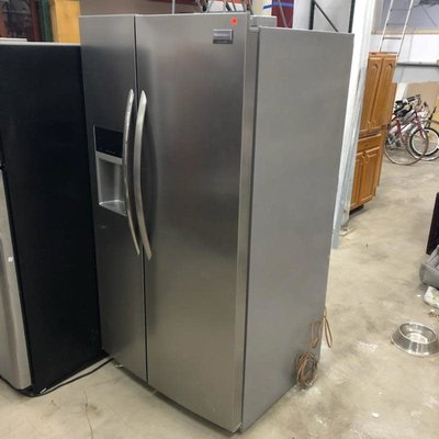 Frigidaire Double Door Stainless Steel Refrigerator #GRE