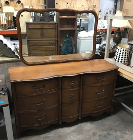 Vintage Mirrored Dresser #GRE