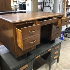 Vintage Oak Office Desk