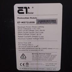 185W solar panel ET-M572185B #BLU