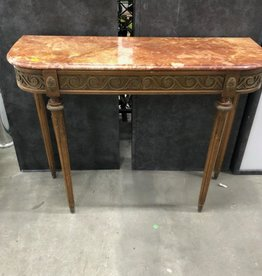 Antique Marble Top Console Table